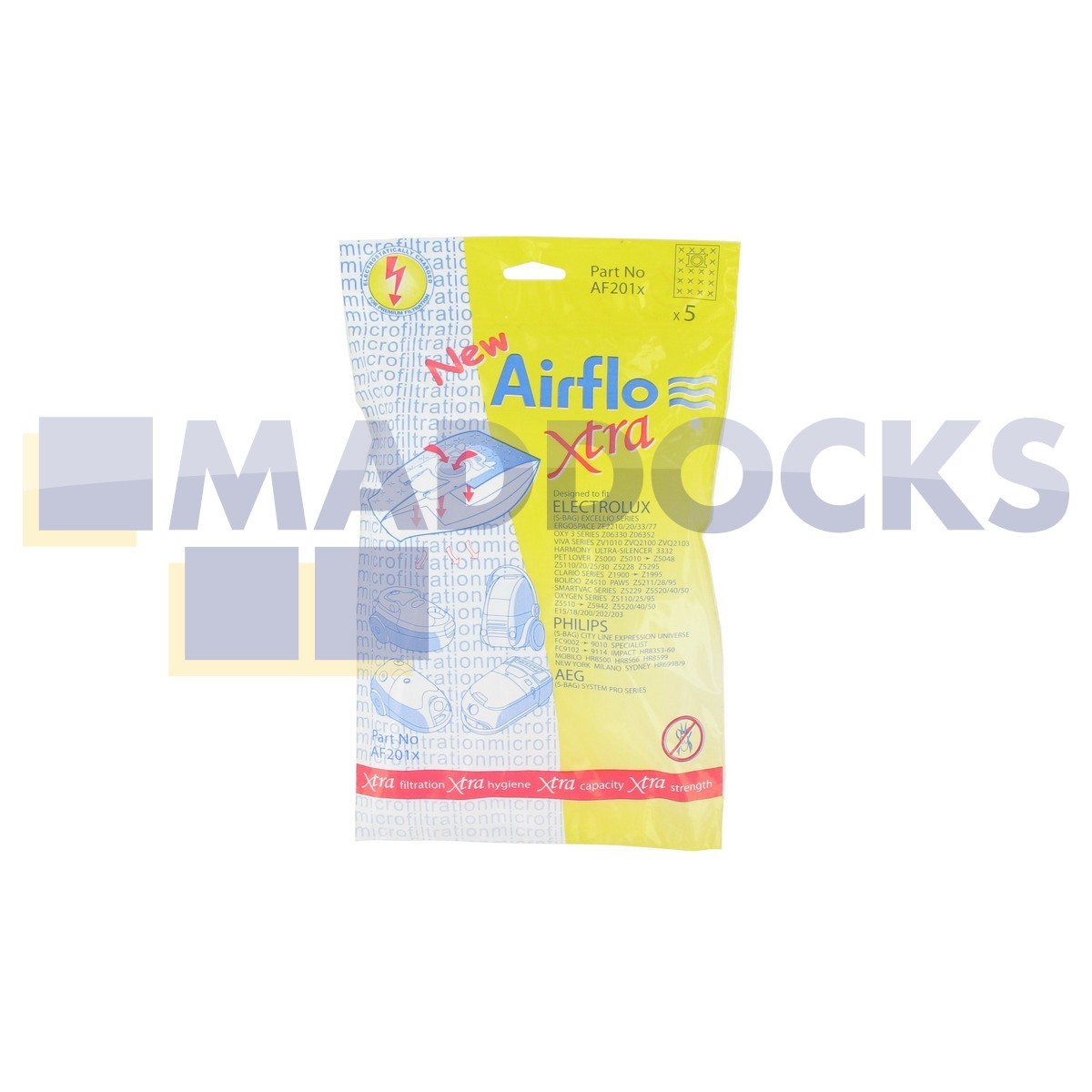 Fits Electrolux Philips E200 E200B Vacuum Cleaner Dust Bags Excillio Expression