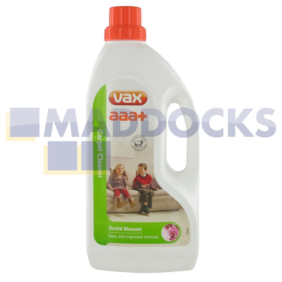 Genuine Original Vax AAA+ Woolsafe Approved Standard 'Orchid Blossom' Carpet & Upholstery Cleaner Solution (1.5 Litre) : 55-VX-08