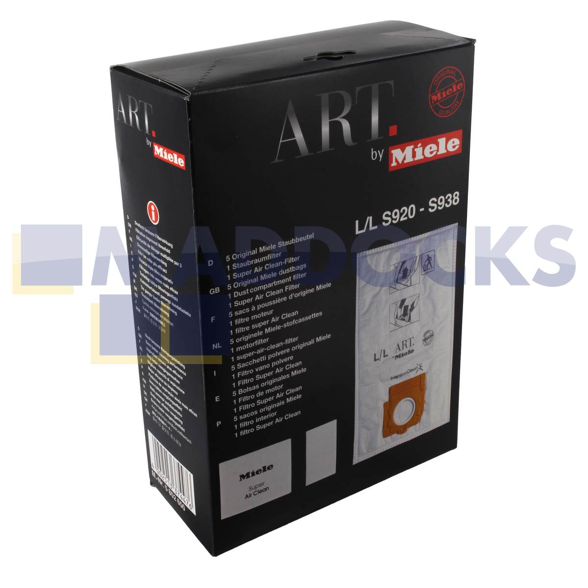 Genuine Original Miele Paper Bags & Filter Set (Type L) : 46