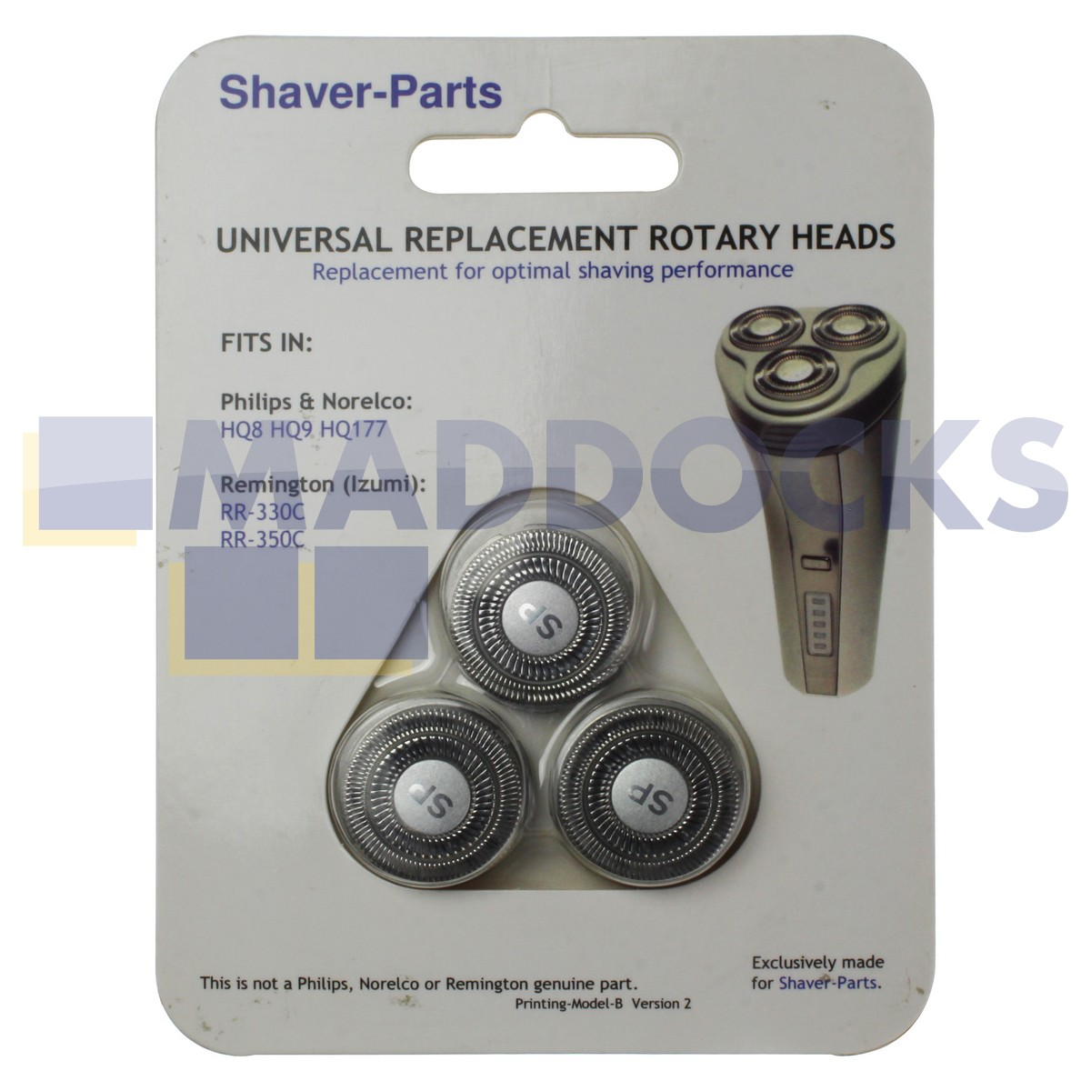 Compatible Philips HQ8, HQ9, HQ177 Universal Replacement Rotary