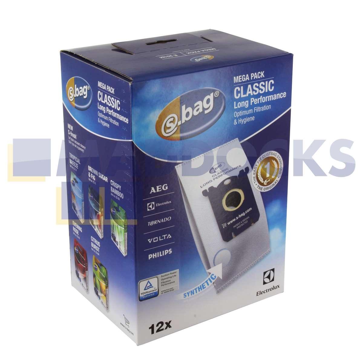 af1d3e922e3 Genuine Original Electrolux S-Bag CLASSIC LONG PERFORMANCE (Pack of 12)  (E201M) : 46-EL-201M